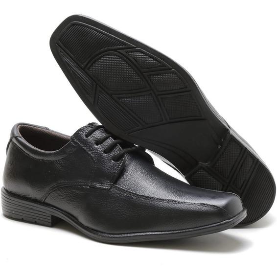 Sapato Masculino Social Tipo Brogue Amarração Couro Men.