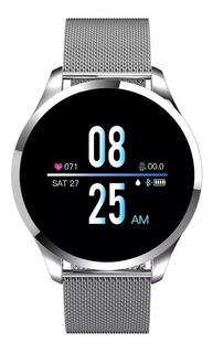 Relógio Q9 Smartwatch Toque De Aço Q9 - É Lançamento - Batimento Cardíaco, Pressão Sanguínea - Ciclo Menstrual - Unissex