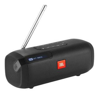 Parlante Jbl Tuner Recargable Con Radio Fm Y Bluetooth Negro