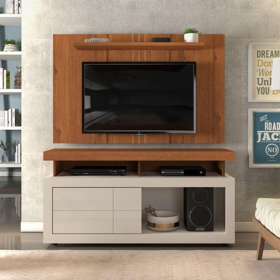 Rack Porta Reversível + Painel Extensível Sala Tv Até 47