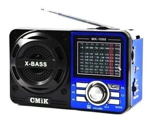 Rádio Portátil Com Usb E Cartão De Memória (am/fm/