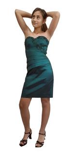 Vestido De Festa/casual Curto Verde Escuro