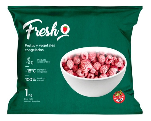 Frambuesa Triturada Congelada Iqf Fresh X 1kg