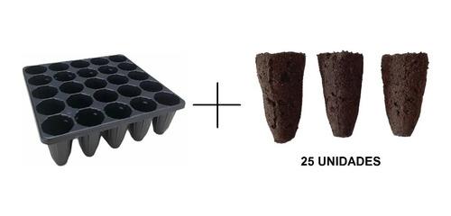 Preformas Aglomeras De Turba 25 Unidad + Bandeja 25 Celdas.