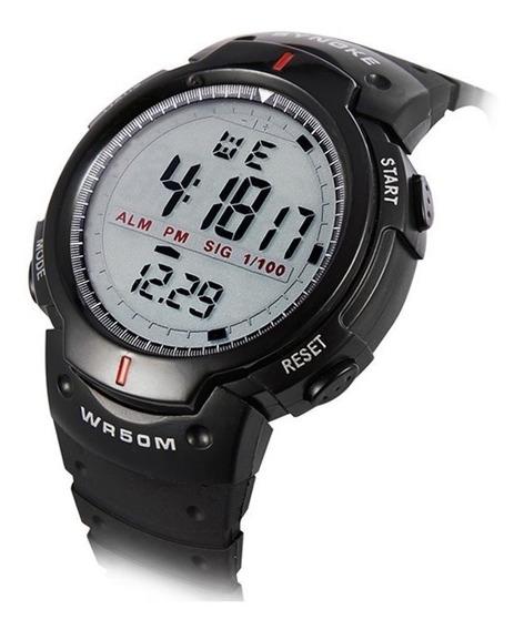 Relógio Masculino Caminhada Esportivo Led Digital + Brinde