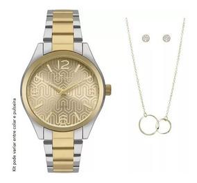 Relógio Condor Feminino Co2035kxt/k5d + Pulseira E Brincos