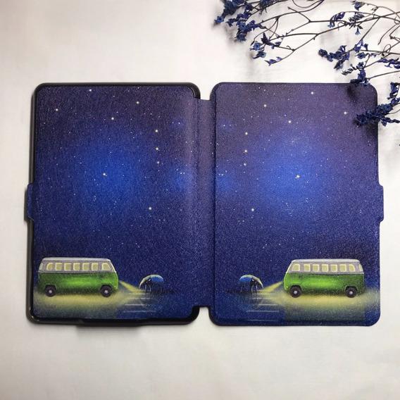 Capa Kindle Paperwhite 1 2 3 Modelo Antigo Noite Kombi Luar Tamanduá Anta Estrelas Película E Caneta De Toque De Brinde