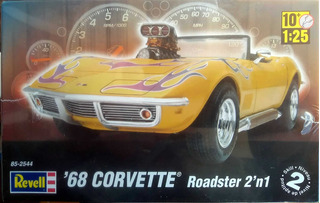 Carro Chevrolet Corvette 68 Roadster 1/25 Kit Revell 2 Em 1