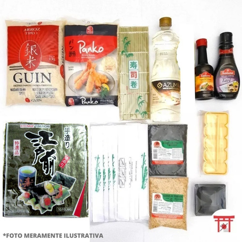 Kit Sushi / Hot Roll 3 Completo Sem Barco E Sem Wasabi