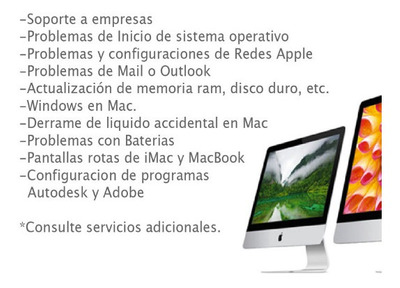 Servicio Tecnico Apple Macbook iMac Notebook & iPad Formateo
