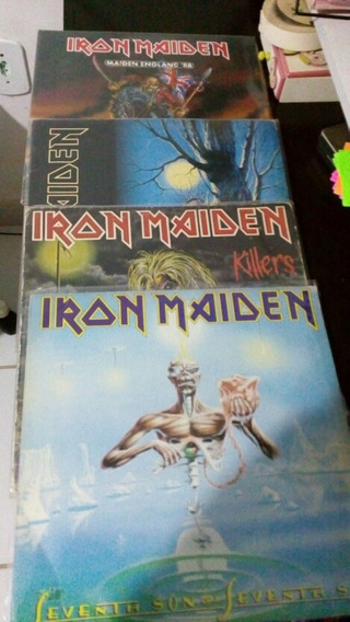 Lote 4 Lps Iron Maiden