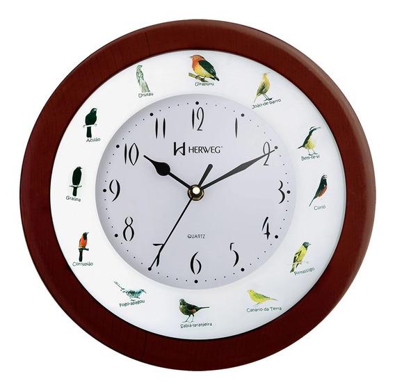 Relógio De Parede 6370 Herweg Canto Dos Passaros Brasileiro