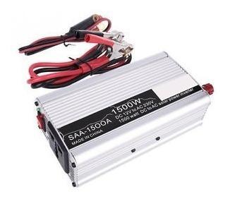 Inversor De Energia 1500w 12v A 110v Portable Para Vehiculo