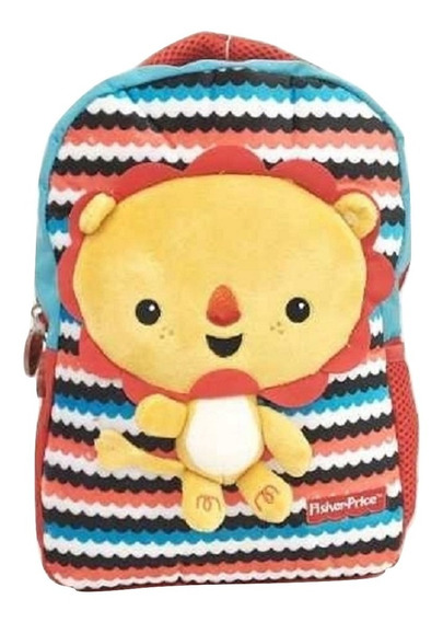 Mochila Fisher Price Animalitos Zoo Con Peluche 3d V Crespo