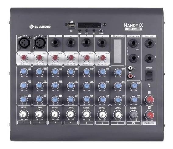 Mesa De Som Ll Audio 8 Canais Nanomix Cdx 902 Com Bluetooth