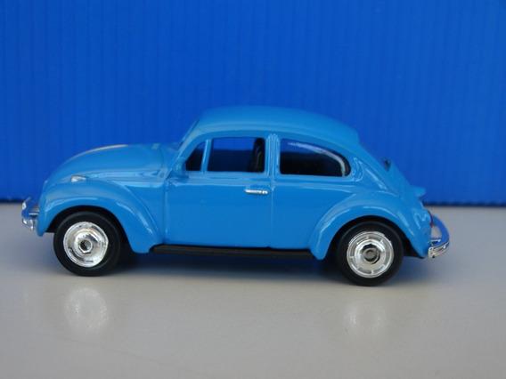Volkswagen Beetle Fusca Azul - Welly Esc Aprox 1:64 Loose