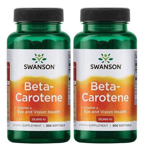 Swanson Beta-carotene Vitamina A Salud Ojos Piel Pack De 2