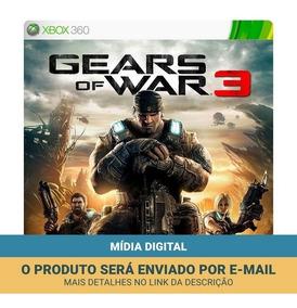 Gears Of War 3 Xbox 360 - Mídia Digital