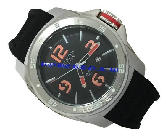 Relógio Masculino Atlantis Pulseira Borracha