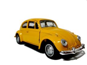 Fusca Amarelo Veiculo Em Miniatura Automóveis Escala 1/32
