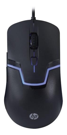Mouse Gamer Hp Preto Led 3200 Dpi Usb M100s