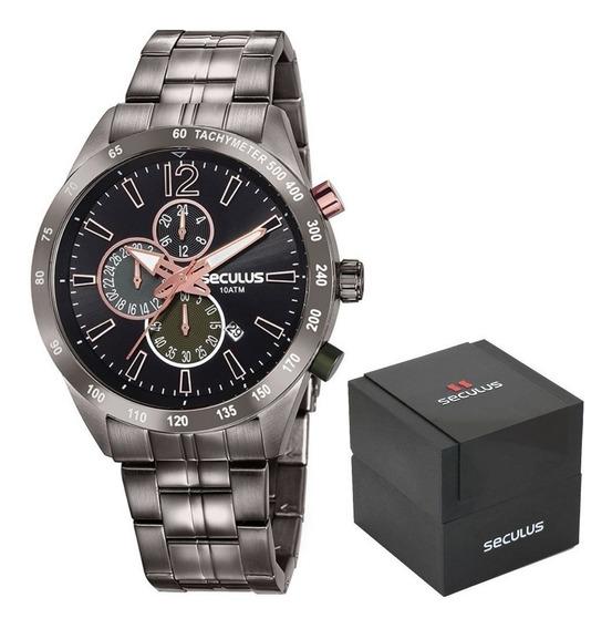 Relógio Seculus Masculino 20767gpsvsa2 Preto