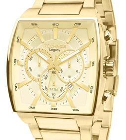 Relógio Technos Masculino Original Quadrado Js25al/4x + Nf-e