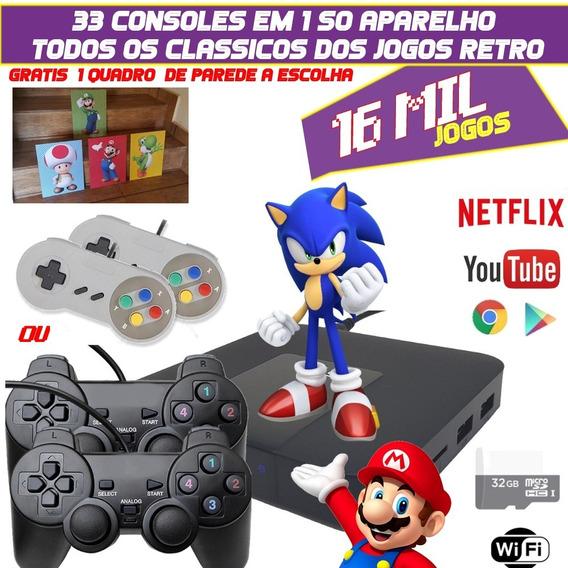 Vídeo Game Portátil Retrô + 16.000+32g Jogos Super Nintendo