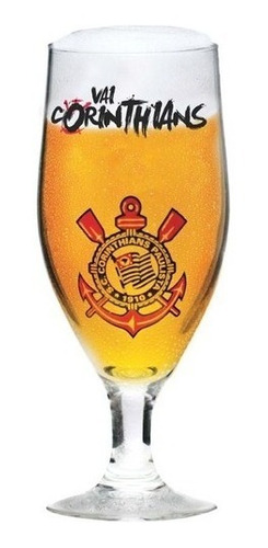 Taça De Cerveja Corinthians  Vidro 380ml Oficial