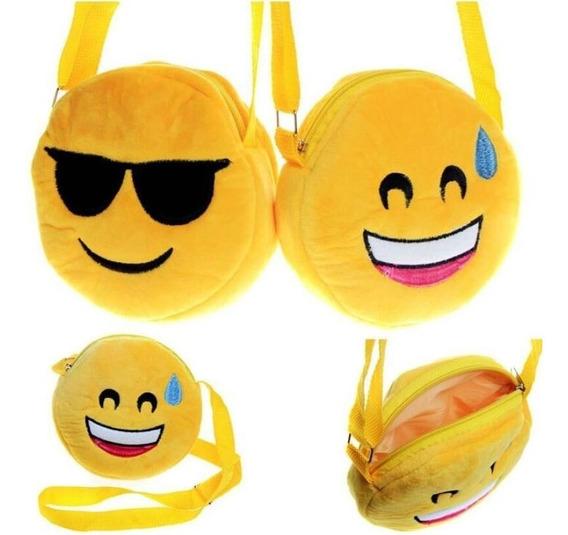 Lote De 12 Monederos Mariconeras Emoticones Emojis Peluches