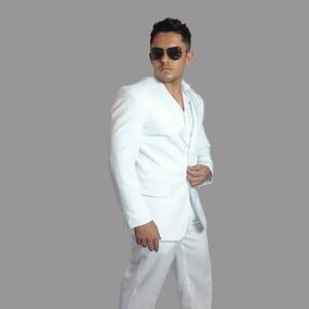 Terno Masculino Slim Fit Blazer Luxo Preto / Branco + Calça