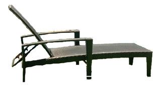 Reposeras Estructura Aluminio Simil Ratan Con Apoya Brazo