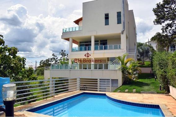 Casa Em Condomínio Com 4 Quartos Para Comprar No Cond. Pontal Da Liberdade Em Lagoa Santa/mg - 8415