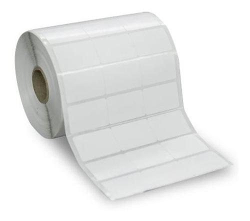 10 Rls Etiqueta Adesiva Couche 34x23 3 Colunas Juntas Branca