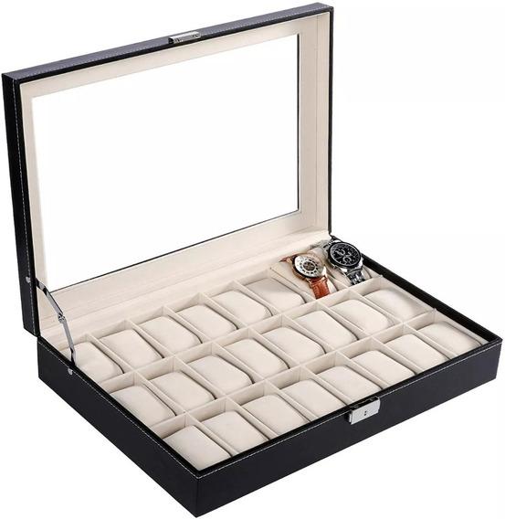 Estuche Reloj Exhibidor Para 24 Relojes Almohadillas Caja