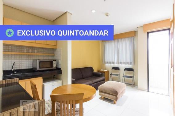 Apartamento No 6º Andar Mobiliado Com 1 Dormitório E 1 Garagem - Id: 892952041 - 252041