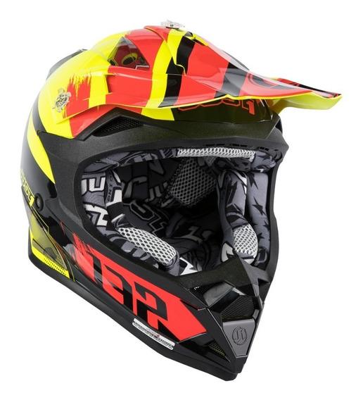 Casco Just1 J32 Pro Kick Black Red Yellow Tienda Oficial