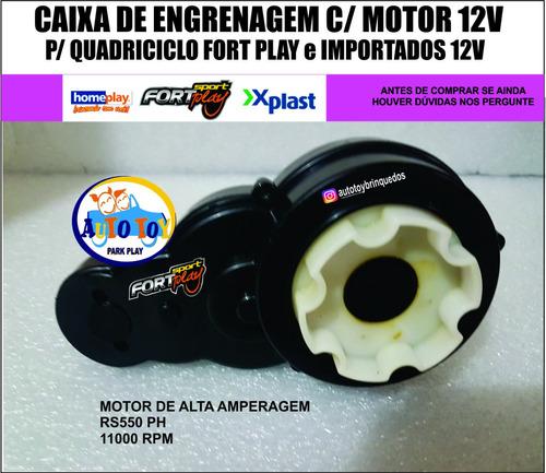 Caixa De Engrenagem Com Motor 12v Para Quadriciclo Fort Play