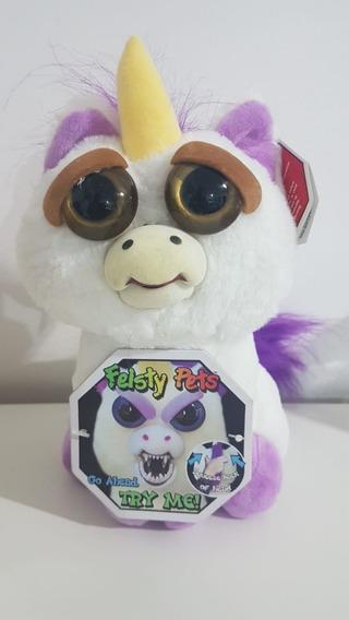 Pelúcia Feisty Pets Unicórnio Olhos Castanhos - Promoção