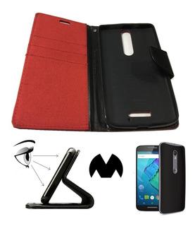 Moto X Style Funda Flip Cover Parante Protector Case Carcasa