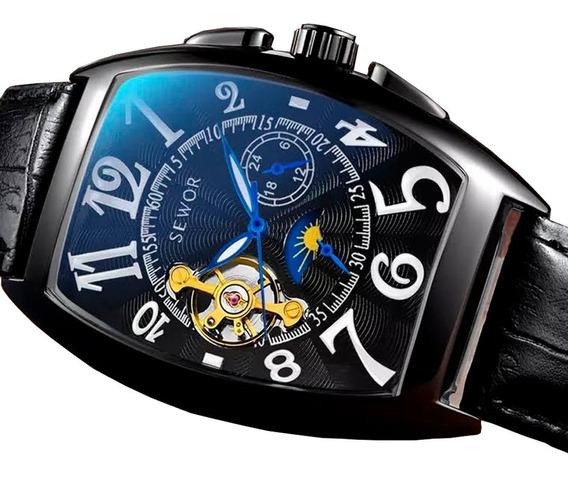 Relógio Elegante Executivo Original Automático Barato Top