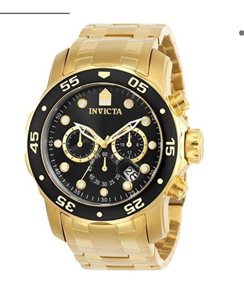 Relógio Invicta 0072 Pro Diver Dourado Ouro 18k Original 12x