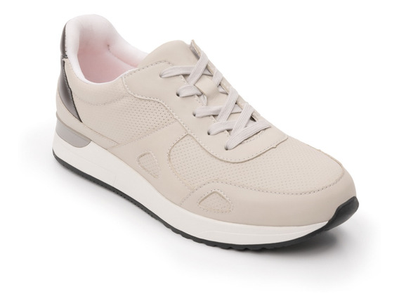 Sneaker Trendy Flexi Dama 37710 Hueso