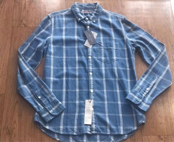 Camisa Social Xadrez Tommy Hilfiger Tamanho P