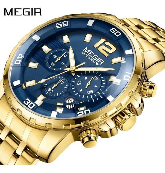 Relógios De Quartzo De Aço Inoxidável Dourado Masculino
