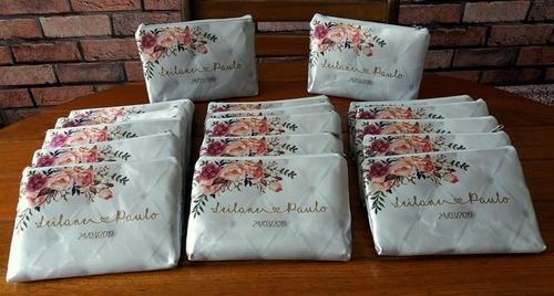 10 Necessaire Bolsinha Personalizada Casamento Floral