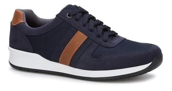 Tenis Sneaker Casual Moderno Ferrato Hombre Original Azul