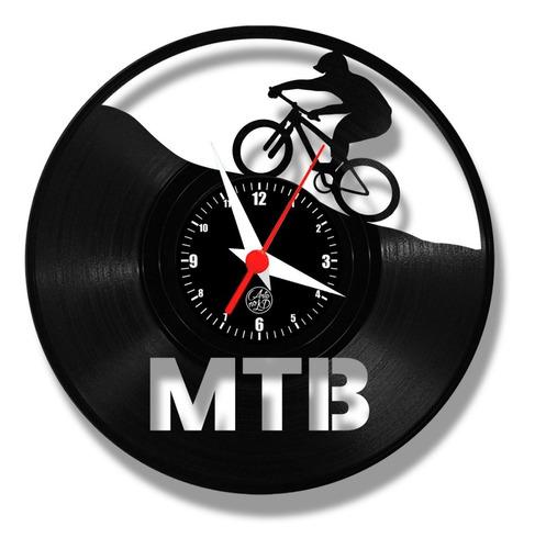 Imagem 1 de 4 de Mountain Bike Relógio Parede Vinil Disco Arte Lp Decoração