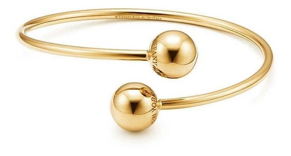 Pulseira Tiff Esferas Ouro Com Embalagem Bracelete