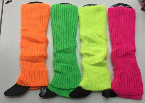Medias En Colores Flúor Para Disfraz Cotillón Uv
